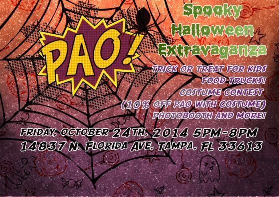 PAO Cafe's Spooky Halloween Extravaganza this FRIDAY!